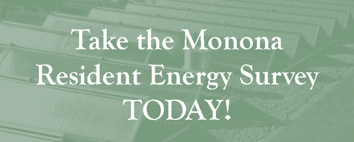 Take the Monona Resident Energy Survey